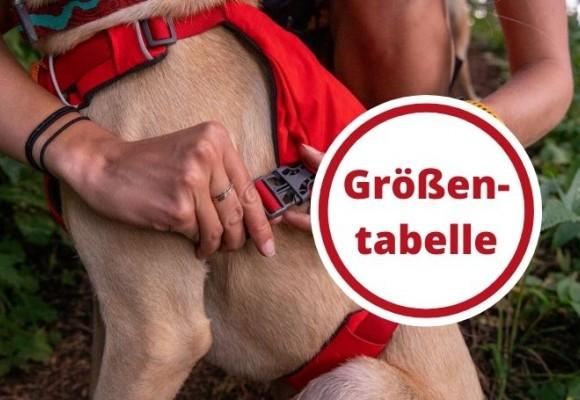 Ruffwear Größentabelle für Hunde